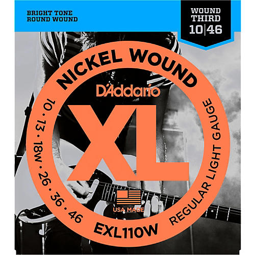 Du0027Addario EXL110W Nickel Regular Light Wound 3rd Electric Guitar Strings ... & Du0027Addario EXL110W Nickel Regular Light Wound 3rd Electric Guitar ... islam-shia.org