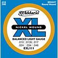 D'Addario EXL111 Balanced Regular Light Guitar Strings thumbnail