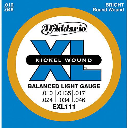 D'Addario EXL111 Balanced Regular Light Guitar Strings