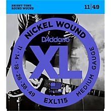 D'Addario EXL115 Medium Gauge Guitar Strings Single-Pack