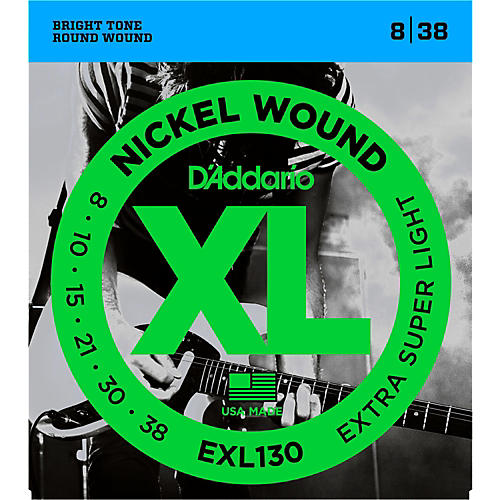 D'Addario EXL130 Nickel Extra Super Light Electric Guitar Strings-thumbnail