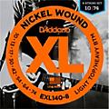 D'Addario EXL140 Light Top Heavy/Bottom 8-String Electric Guitar Strings  Thumbnail