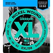 D'Addario EXL158 Light Baritone Electric Guitar Strings