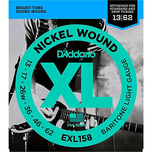 D'Addario EXL158 Light Baritone Electric Guitar Strings