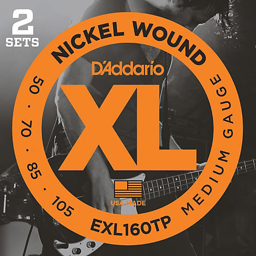 D'Addario EXL160TP Twin-Pack Bass Guitar Strings