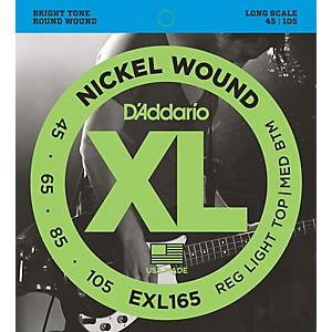 Daddario EXL165 XL Nickel Round Wound Soft/Regular Bass Strings by D'Addario