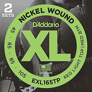 Daddario EXL165TP Twin Pack Bass Guitar Strings by D'Addario