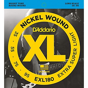 Daddario EXL180 XL Extra Super Soft/Long Bass Strings by D'Addario