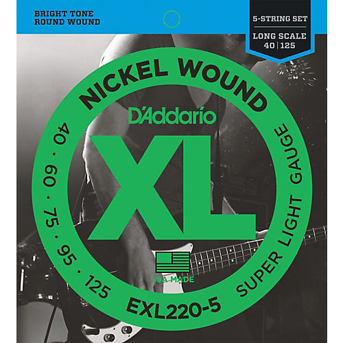 D'Addario EXL220-5 XL 5-String Bass Super Soft/Long String Set-thumbnail