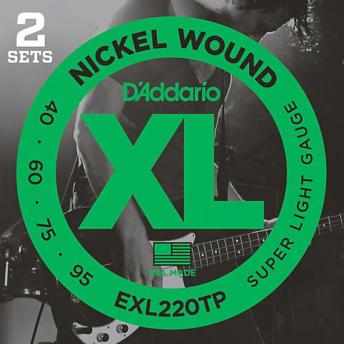 D'Addario EXL220TP Twin-Pack Bass Guitar Strings