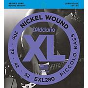 D'Addario EXL280 XL Piccolo Bass Regular/Long String Set