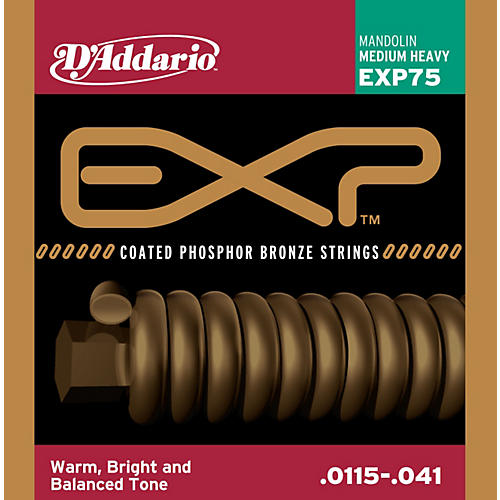 D'Addario EXP Coated Phosphor Bronze Mandolin Strings