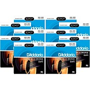 D'Addario EXP11 Coated 80/20 Bronze Light Acoustic Guitar Strings - 10 Pack