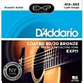 D'Addario EXP11 Coated 80/20 Bronze Light Acoustic Guitar Strings thumbnail