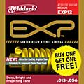 D'Addario EXP12 Coated 80/20 Bronze Medium 6-String Acoustic String Set - Buy One Get One Free thumbnail