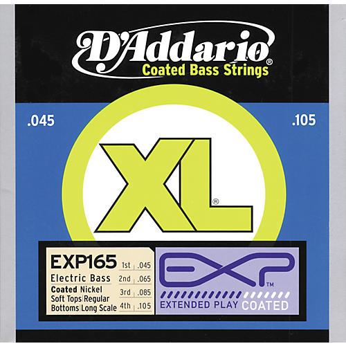 D'Addario EXP165 Coated Soft Top/Regular Bottom Bass Strings-thumbnail