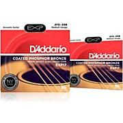 D'Addario EXP17 Coated Phosphor Bronze Medium Acoustic Guitar Strings 2-Pack