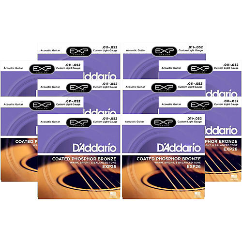 D'Addario EXP26 Acoustic Strings 10 Pack-thumbnail