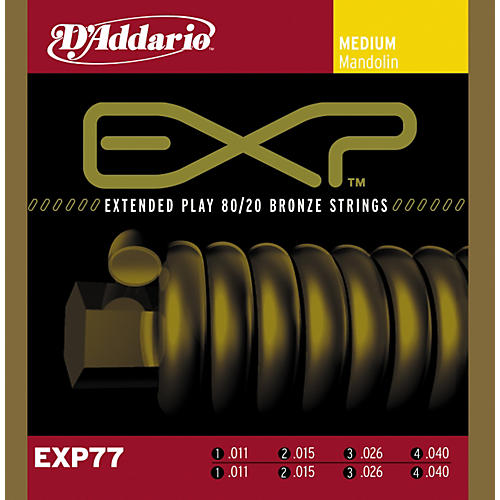 D'Addario EXP77 Coated Mandolin Strings Medium