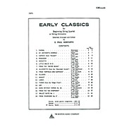 Music Sales Early Classics For Beg. Str 4Tet Cello Music Sales America Series
