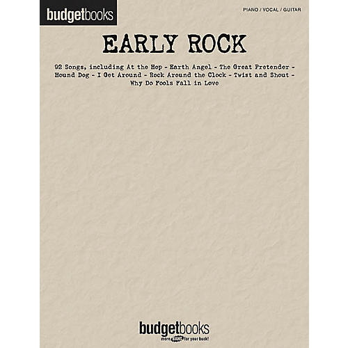 Hal Leonard Early Rock Piano, Vocal, Guitar Songbook