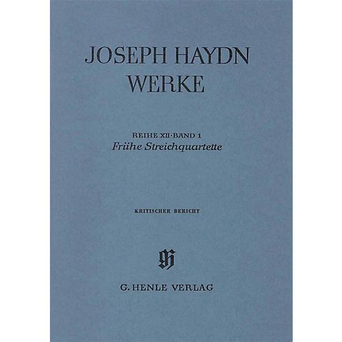 G. Henle Verlag Early String Quartets Henle Edition Series Hardcover