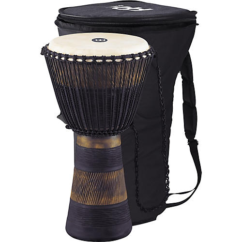 Meinl Earth Rhythm Series Original African-Style Rope-Tuned Wood Djembe with Bag-thumbnail