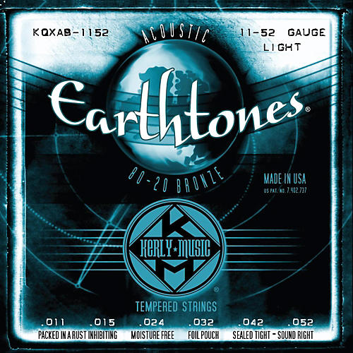 Kerly Music Earthtones 80/20 Bronze Acoustic Guitar Strings - Light Gauge-thumbnail