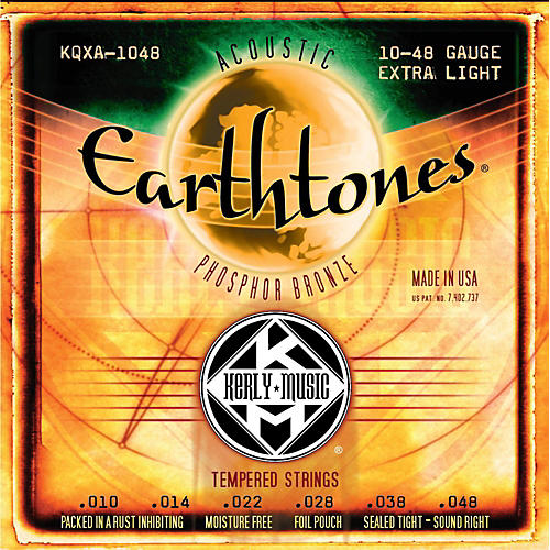 Kerly Music Earthtones Phosphor Bronze Acoustic Guitar Strings - Extra Light-thumbnail