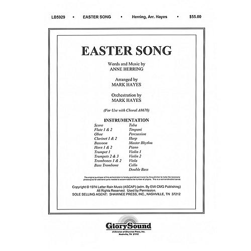 Shawnee Press Easter Song (Orchestration) ORCHESTRA ACCOMPANIMENT arranged by Mark Hayes