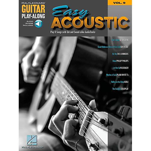Hal Leonard Easy Acoustic Songs - Guitar Play-Along Vol. 9 Book/Online Audio-thumbnail