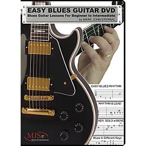 mjs music publications easy blues guitar dvd blues guitar lessons for beginner through. Black Bedroom Furniture Sets. Home Design Ideas