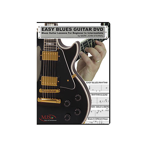 mjs music publications easy blues guitar dvd blues guitar lessons for beginner through. Black Bedroom Furniture Sets. Home Design Ideas