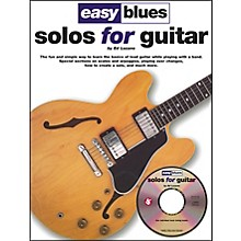 Music Sales Easy Blues Solos For Guitar Book/CD