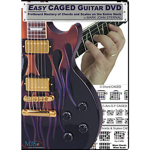 MJS Music Publications Easy CAGED Guitar DVD: Fretboard Mastery of Chords and Scales on the Entire Neck-thumbnail