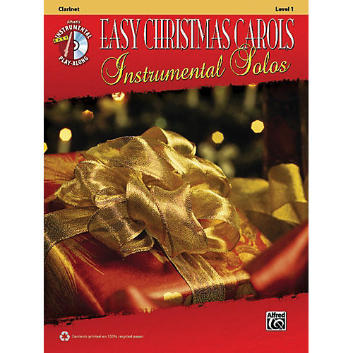 Alfred Easy Christmas Carols Instrumental Solos Clarinet Book & CD-thumbnail