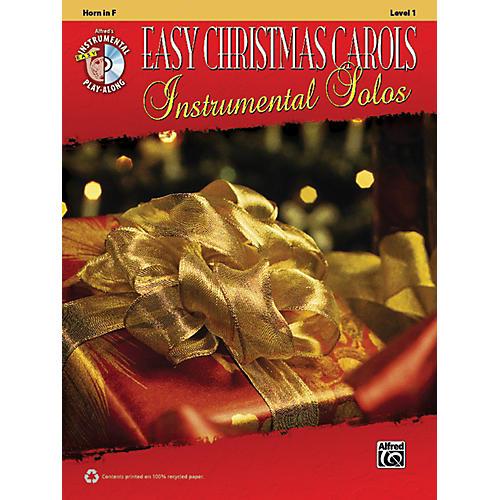 Alfred Easy Christmas Carols Instrumental Solos Horn in F Book & CD