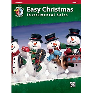 Alfred Easy Christmas Instrumental Solos Level 1 Trombone Book and CD