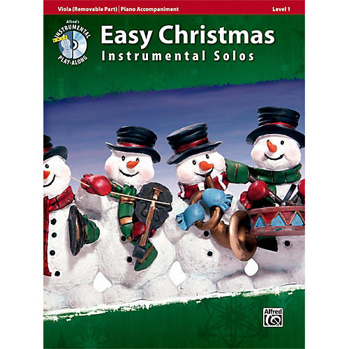Alfred Easy Christmas Instrumental Solos Level 1 for Strings Viola Book & CD-thumbnail