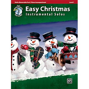 Alfred Easy Christmas Instrumental Solos Level 1 for Strings Violin Book and ... by Alfred