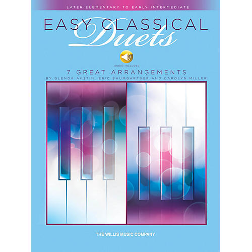 Willis Music Easy Classical Duets Willis Series Book Audio Online by Various (Level Late Elem to Early Inter)