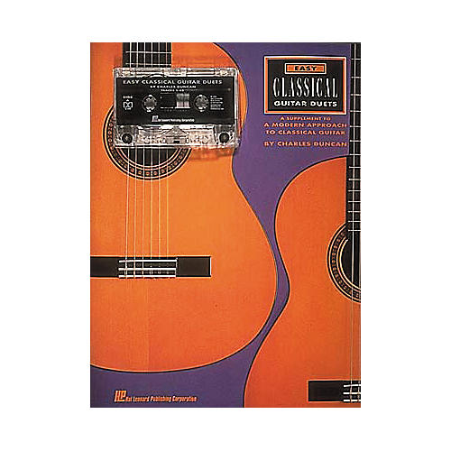 Hal Leonard Easy Classical Guitar Duets (Book/Cassette)-thumbnail
