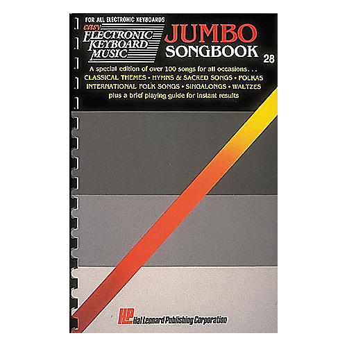Hal Leonard Easy Electronic Keyboard Music #028 - Jumbo Songbook