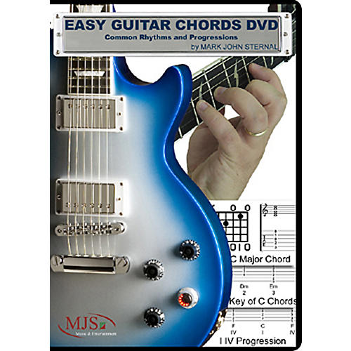 MJS Music Publications Easy Guitar Chords DVD Common Rhythms and Progressions