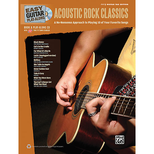 Alfred Easy Guitar Play-Along Acoustic Rock Classics Book & CD