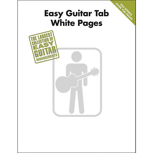 Hal Leonard Easy Guitar Tab White Pages Songbook-thumbnail