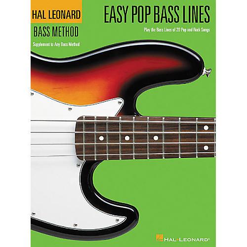 Hal Leonard Easy Pop Bass Lines Bass Method Book