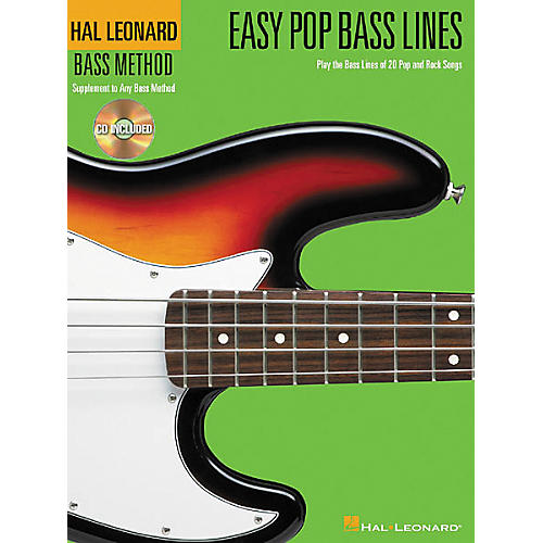 Hal Leonard Easy Pop Bass Lines Tab Book with CD