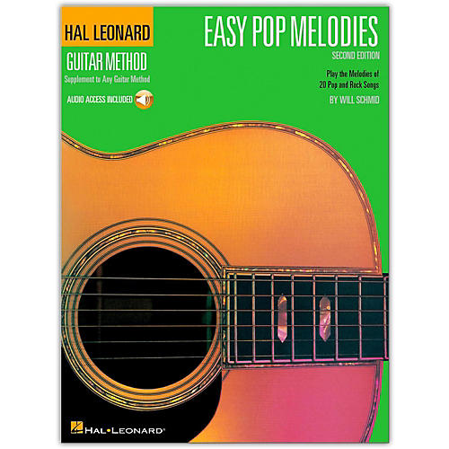 Hal Leonard Easy Pop Melodies - 2nd Edition Guitar Method Songbook with Online Audio-thumbnail