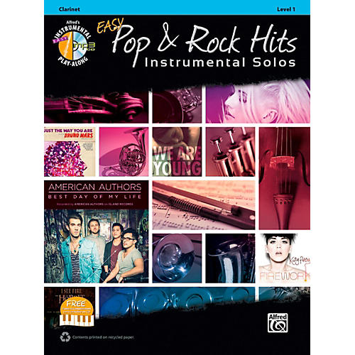 Alfred Easy Pop & Rock Instrumental Solos Clarinet Book & CD
